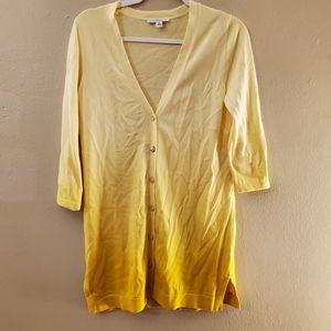 Isaac Mizrahi Live Yellow Gold 3/4 Button Cardigan